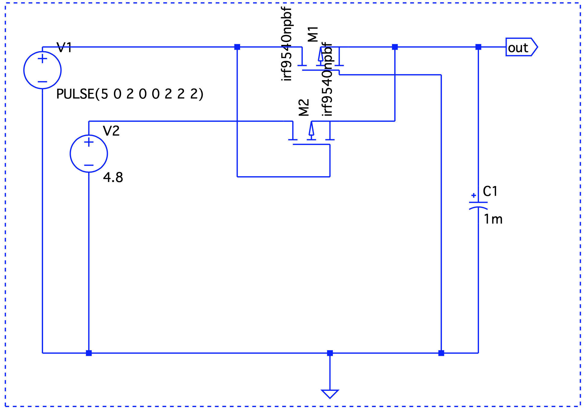 Rotated MOSFET setup